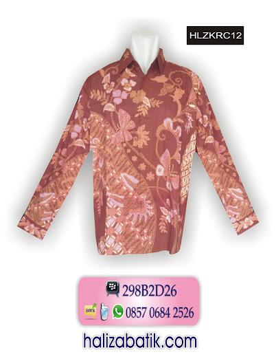 HLZKRC12 Baju Batik Modern, Baju Muslim Batik Modern, Batik Pria Modern, HLZKRC12