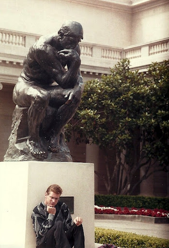 Jonathan next to Rodin's