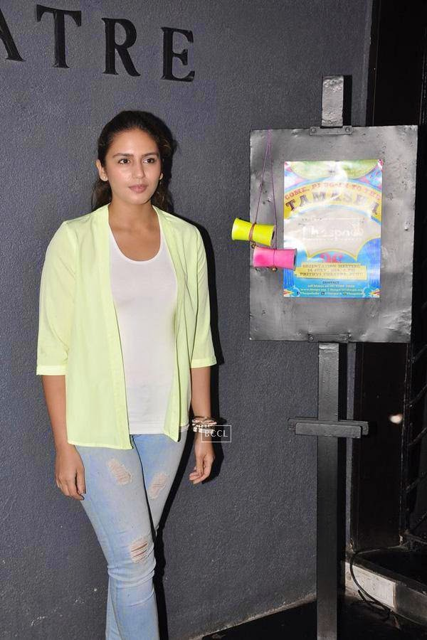 Huma Qureshi during the orientation meet of Thespo 16, in Mumbai, on July 14, 2014. (Pic: Viral Bhayani)