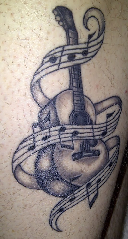 Acoustic Guitar Drawing Tattoo But  the guitar helps Acoustic Guitar Drawing Tattoo