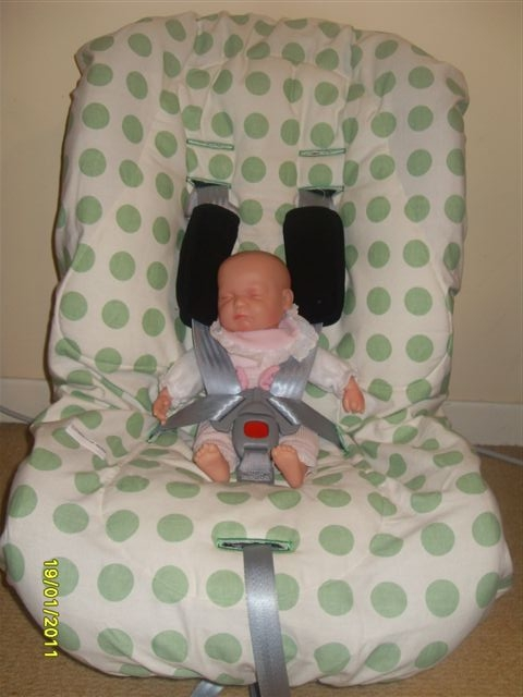Photo Showing The Minnie Moo Maxi Medo On A Britax Two Way Elite Extended Rear Facing Car Seat Dolly Seems Comfy In