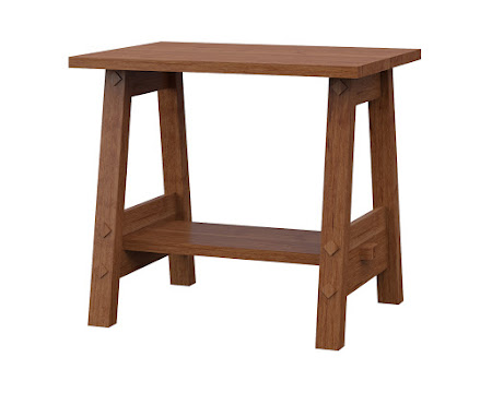 Geneva End Table in Itasca Maple