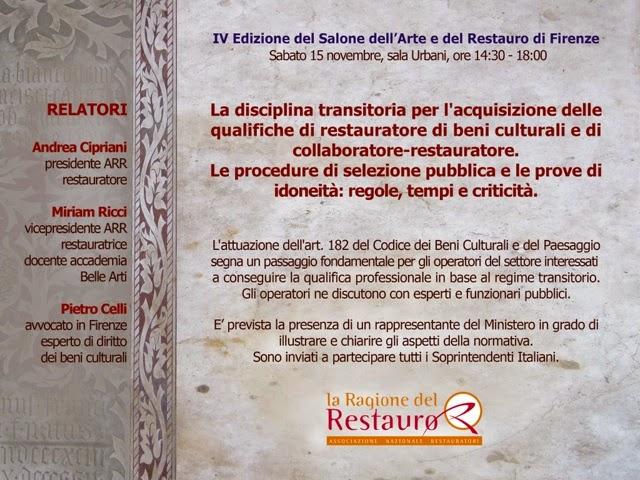 La Ragione Del Restauro.Frammenti Di Carta Novembre 2014