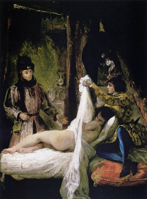 Eugène Delacroix - Louis d'Orléans Showing his Mistress