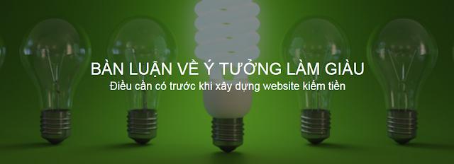 Ý tưởng làm giàu bằng website cá nhân