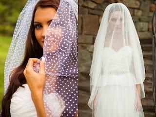 Velo de novia en tul plumeti