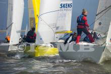 J/22s sailing winter series off Netherlands