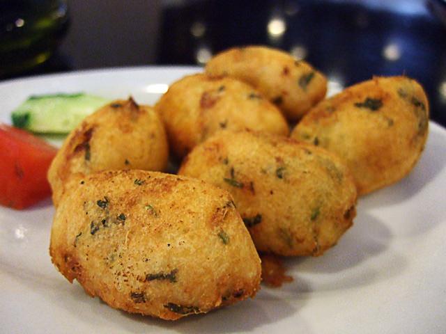 Fried codfish cakes