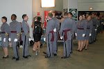 Soldiers about to sing