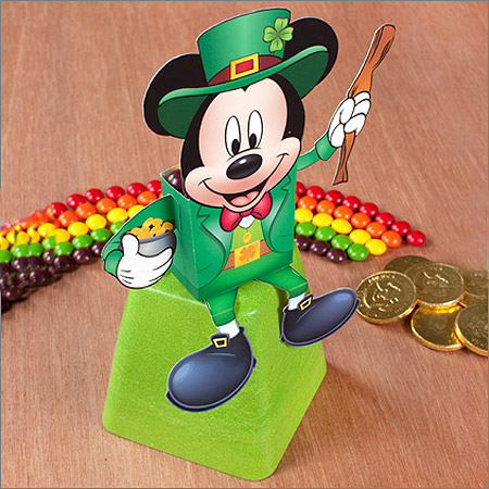 Disney 2012 St. Patrick's Day Papercraft Mickey Mouse Candy Box