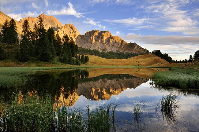 Traversée des Alpes, du lac Léman à la Méditerranée Gr5-briancon-mediterranee-lac-miroir-2