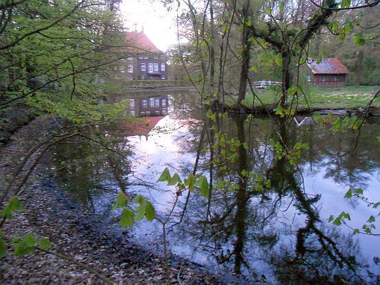 Haus Vorhelm am Abend, Ahlen, Münsterland