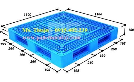 Pallet nhựa Malaysia 1100 x 1100mm
