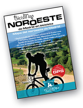 Mapa del Noroeste de Madrid en bicicleta
