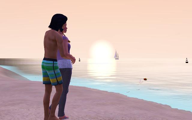 Embarazo y puesta de sol