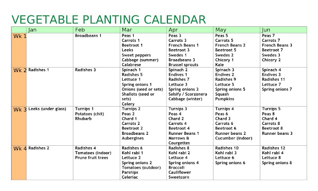 24 creative vegetable garden planner calendar for Garden planning guide