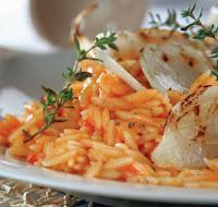 Κριθαράκι με σάλτσα ντομάτα,Orzo with tomato sauce