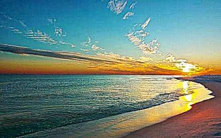 gorgeous sunset on navarre