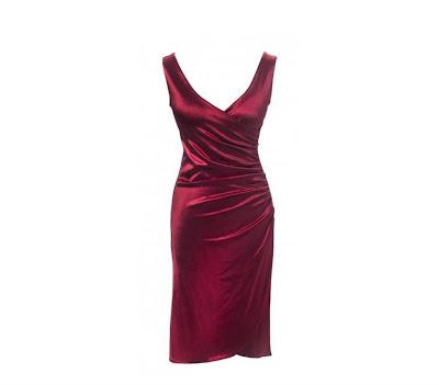 40s rood satijnen avondjurk van Pinup Couture