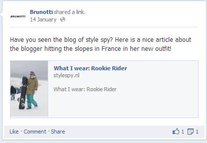 Style Spy in de pers van Brunotti
