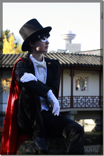 sailor moon cosplay - tuxedo mask / kamen by twinfools