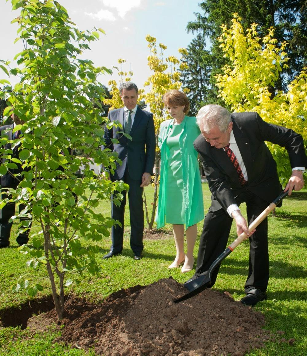 Președintele Republicii Cehe, Excelența Sa domnul Miloš Zeman, a fost oaspetele Familiei Regale