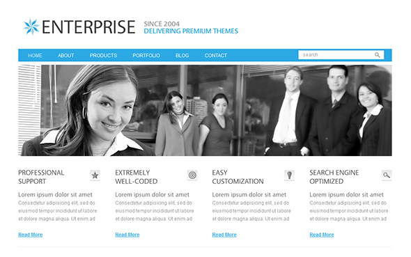 Enterprise WordPress Theme for Business Websites
