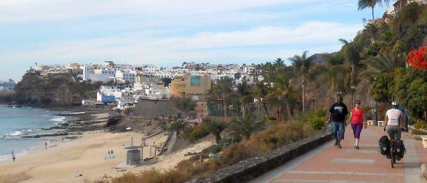 Miri auf der Strandpromenade von Morro Jable, Fuerteventura