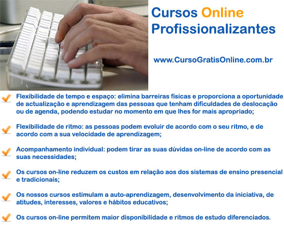 Cursos Profissionalizantes Online com Certificado