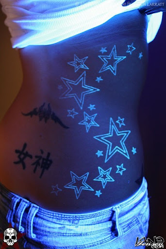 uv black light ink tattoos