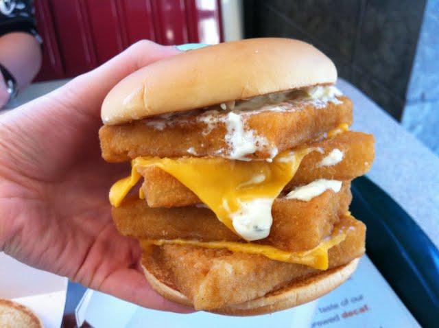 Diy mcdonald 39 s quadruple filet o fish sandwich bonus for Mcdonald s fish sandwich calories
