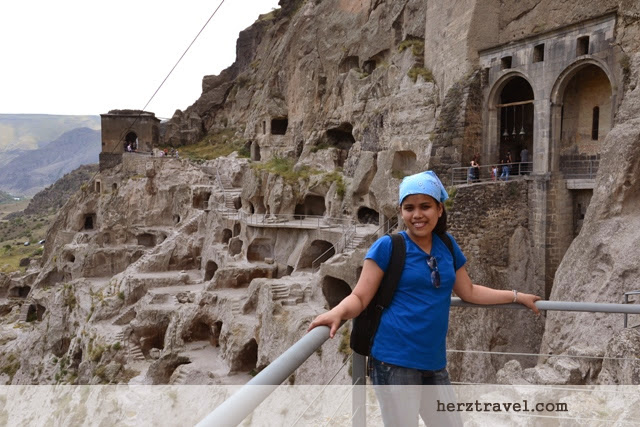Medieval Caves in Vardzia Cave Monastery