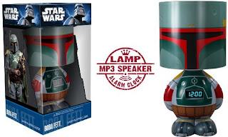 Star Wars Boba Fett Character Lamp Alarm Clock, Image