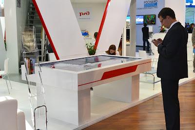 интерактивный стол РЖД