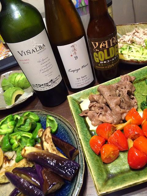 夏野菜に太陽の国のワイン