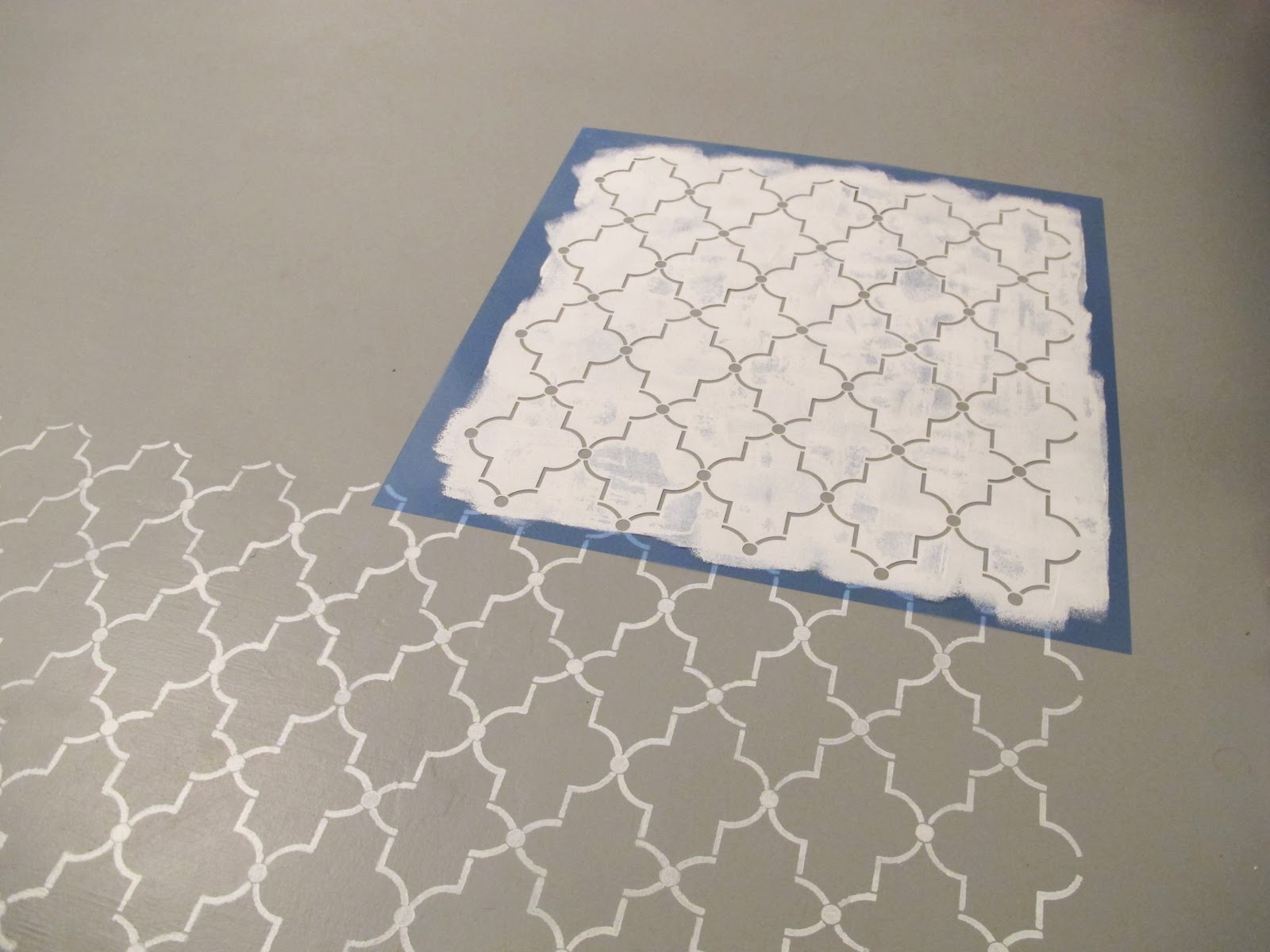 Back to domestics how to stencil a floor for Printable flooring