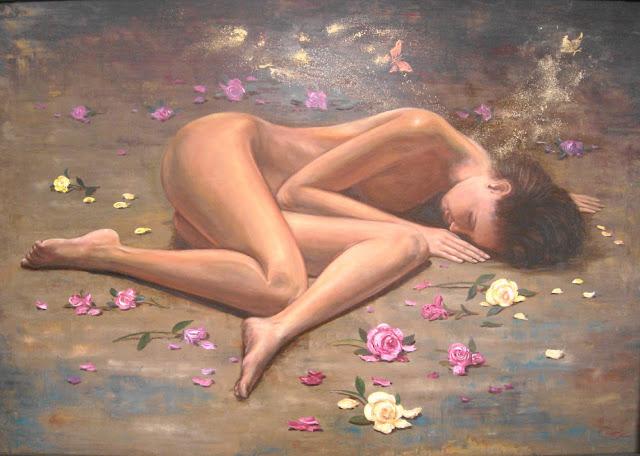 Otra vez ella,pintura del pintor Emilio Romero Rodríguez