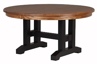 trestle round table