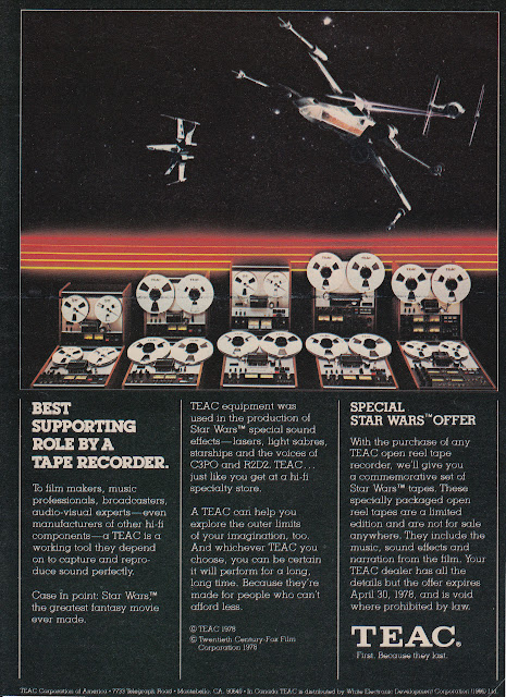 1978 TEAC Tape Decks - Star Wars Promo