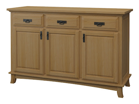 Glasgow Credenza in Oil & Wax Hickory