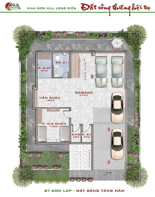 Thiết kế tầng hầm biệt thự đơn lập