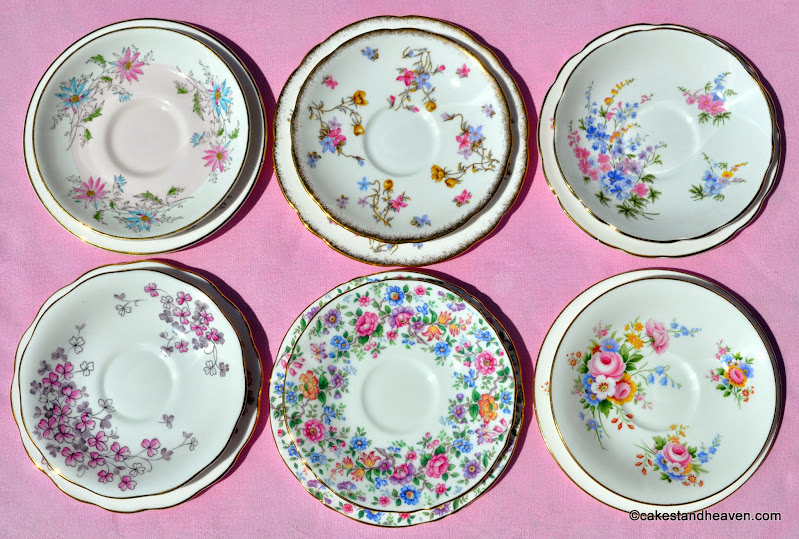 Summer Days Tea Set Saucers x 6