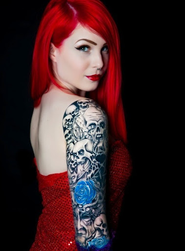 girl arm tattoos