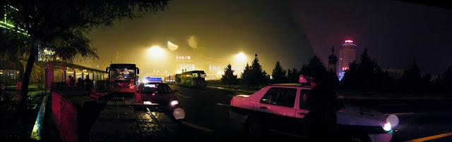 Panorama2Qiqiharailwaysquareinfoggynight.JPG