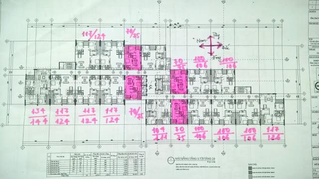 Mặt bằng dự án chung cư 60 Hoàng Quốc Việt.