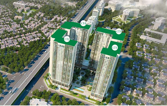 Vị trí 4 tòa chung cư Eco Green Ciy Nguyễn xiển