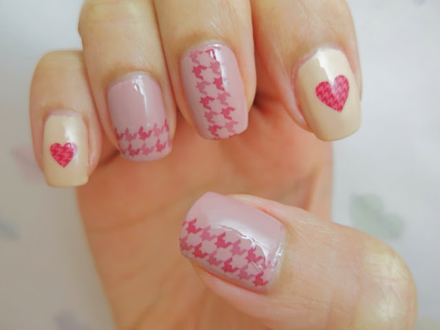 Houndstooth Water Decal Nail Art YU089