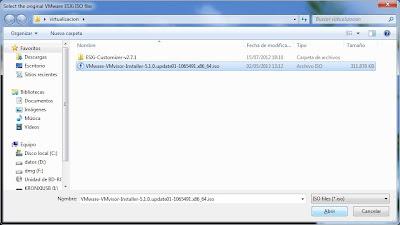Requisitos para agregar controladores o drivers al fichero ISO de instalación de VMware ESXi 5.1