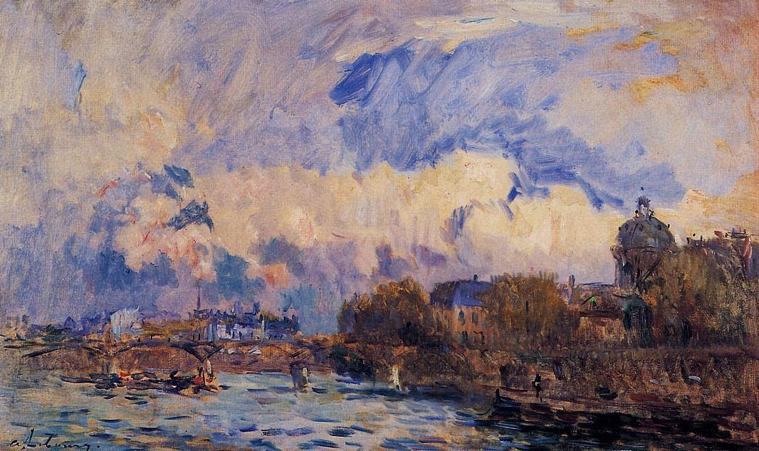 Albert Lebourg - Paris, the Seine at Pont des Arts and the Institute
