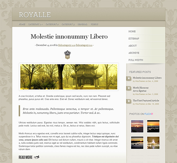 Royalle WordPress Wedding Theme